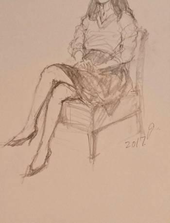 スケッチ。(2017/11/10 21:37)岡沢 亜美のブログ画像